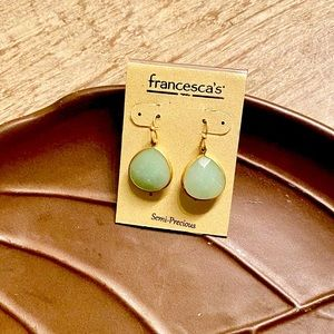 • NWT • Semi Precious Teardrop Earrings